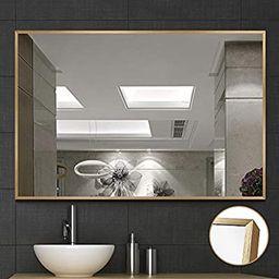 NeuType Large Wall Mounted Mirrors for Bathroom Bedroom Living Room, Vanity Mirror, Brushed Alumi... | Amazon (US)