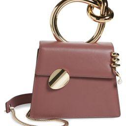 Small Brigitta Pierced Calfskin Leather Top Handle Satchel | Nordstrom