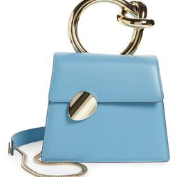Small Brigitta Santorini Calfskin Leather Top Handle Satchel | Nordstrom