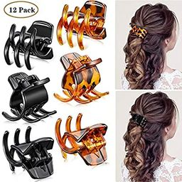 12 Pieces Hair Claw Clips Medium Size Hair Claws 1.3 Inch Hair Jaw Clip Claw Clip Grip for Women ...   Amazon (US)
