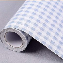 Yifely Blue & White Checkered Pattern Furniture Protective Paper Self-Adhesive Shelf Liner Dresse... | Amazon (US)