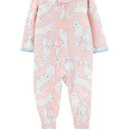 1-Piece Bunny Poly Footie PJs | Carter's