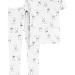 2-Piece Bunny Snug Fit Cotton PJs | Carter's