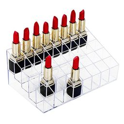 hblife Lipstick Holder, 40 Spaces Clear Acrylic Lipstick Organizer Display Stand Cosmetic Makeup ... | Amazon (US)