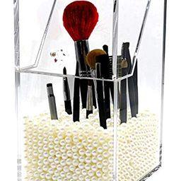 PuTwo Makeup Brush Holder Dustproof Storage Box Premium Quality 5mm Thick Acrylic Makeup Organize... | Amazon (US)