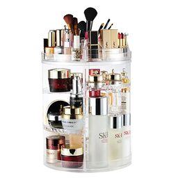 AmeiTech Makeup Organizer, 360 Degree Rotating Adjustable Cosmetic Storage Display Case with 8 La... | Amazon (US)