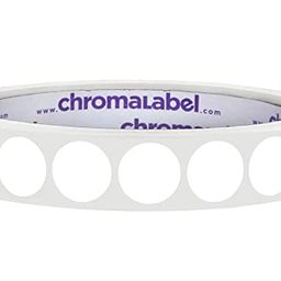 ChromaLabel 1/2 Inch Round Permanent Color-Code Dot Stickers, 1000 Labels per Roll, White | Amazon (US)
