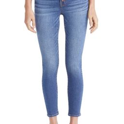 Women's Madewell Button Front Crop Skinny Jeans, Size 32 - Blue   Nordstrom