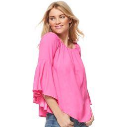 Scoop Bell Sleeve Top Women's   Walmart (US)
