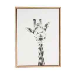 """24"""" x 18"""" Giraffe Framed Canvas Art - Uniek   Target"""