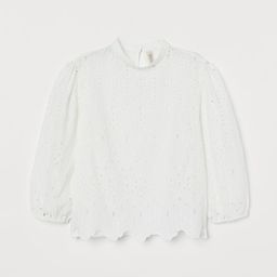 Eyelet Embroidery Blouse   H&M (US)