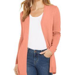 Open-Front Curved-Hem Completer Sweater, Created For Macy's | Macys (US)