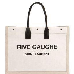 Saint Laurent Noe Cabas Large Rive Gauche Canvas Tote Bag | Neiman Marcus