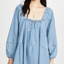 Blue Jean Babydoll Dress | Shopbop