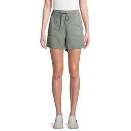 EV1 from Ellen DeGeneres Front Tie Pull-On Shorts Women's (Seaspray)   Walmart (US)