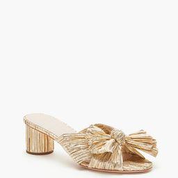 Gold Emilia Pleated Knot Mules | Tuckernuck