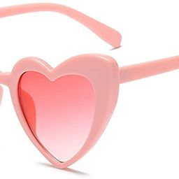 Love Heart Shaped Sunglasses Women Vintage Cat Eye Mod Style Retro Glasses | Amazon (US)