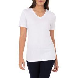 Time and Tru Women's Short Sleeve V-Neck Tee | Walmart (US)