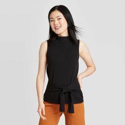 Women's Crewneck Tie Waist Sweater Tank - A New Day™   Target