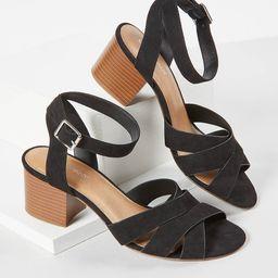 Faux-Suede Block Heel Sandal   Lane Bryant (US)