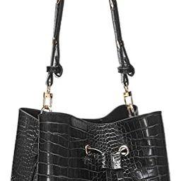 Crocodile Handbags for Women Purses and Handbags Large Designer Crossbody Bucket bag Leather Ladi... | Amazon (US)