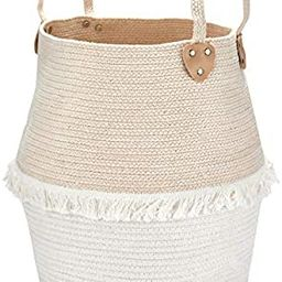 Rope Basket Woven Storage Basket - Laundry Basket Large 16 x 15 x 15 Inches Cotton Blanket Organi...   Amazon (US)