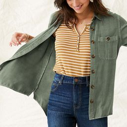 Utility Button Down Shirt   Maurices