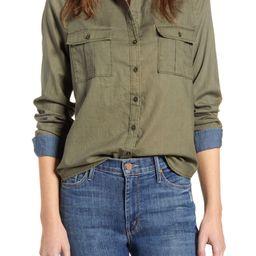 Laura Cotton Twill Utility Shirt   Nordstrom