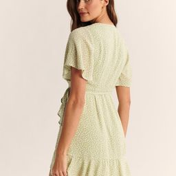 Ruffle Hem Wrap Dress | Abercrombie & Fitch US & UK