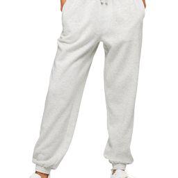 High Waist Cotton Blend Sweatpants | Nordstrom
