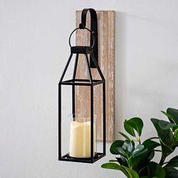 Wood and Metal Hanging Lantern Sconce | Kirkland's Home