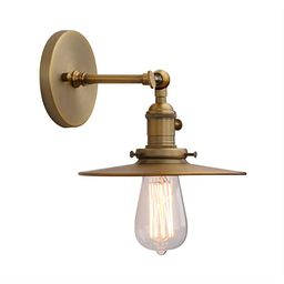 Phansthy Industrial Wall Sconce 1-Light Antique Finished Wall Light Fixture with 7.87 Inches Craf... | Amazon (US)