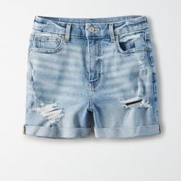 Stretch Curvy Denim Mom Shorts | American Eagle Outfitters (US & CA)
