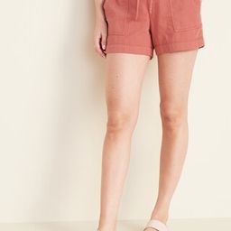 Relaxed Mid-Rise Soft Shorts for Women - 4-inch inseam   Old Navy (US)