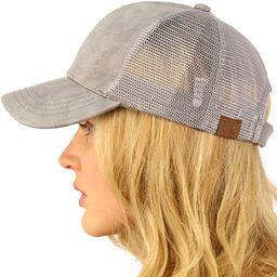 CC Everyday Mesh Trucker Faux Leather Plain Blank Baseball Cap Hat Solid   Amazon (US)