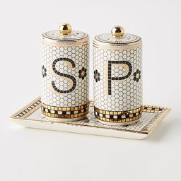 Bistro Tile Salt & Pepper Shakers | Anthropologie (US)