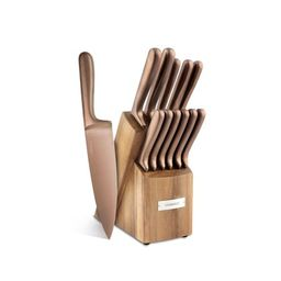 Cambridge Silversmiths Rame Copper 12-Piece Cutlery Set with Block | Walmart (US)
