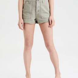 Super High-Waisted Utility Denim Short Short | American Eagle Outfitters (US & CA)