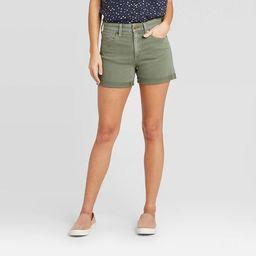 Women's High-Rise Short Jean Shorts - Universal Thread™ Dusty Olive | Target