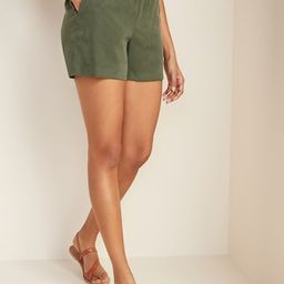 High-Waisted Soft Twill Pull-On Shorts for Women -- | Old Navy (US)