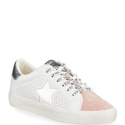 Gadol Star Metallic Low-Top Leather Sneakers | Lastcall