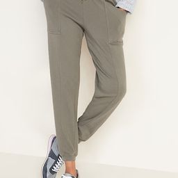 Mid-Rise French-Terry Utility Street Joggers for Women   Old Navy (US)