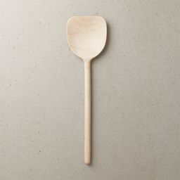 Wide Maple Wood Spoon + Reviews | CB2 | CB2