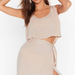 Beach Please Cover-Up Crop Top and Skirt Set | NastyGal (US & CA)