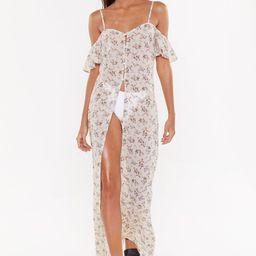 Chiffon Floral Cover-Up Maxi Dress | NastyGal (US & CA)