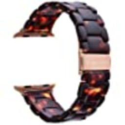 V-MORO Resin Strap Compatible with Apple Watch Band 38mm 40mm Series 5/4/3/2/1 Women Men with Sta... | Amazon (US)