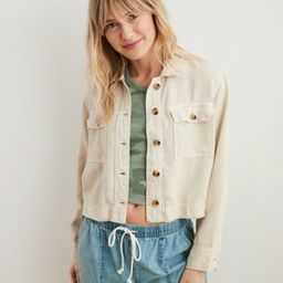 Aerie Twill Cropped Jacket | American Eagle Outfitters (US & CA)