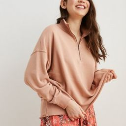 Aerie Sunday Soft Quarter Zip Sweatshirt | American Eagle Outfitters (US & CA)