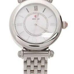 MICHELE Caber Diamond Bracelet Watch, 35MM in Silver/ Mop/ Silver MWW16E000002   eBay US