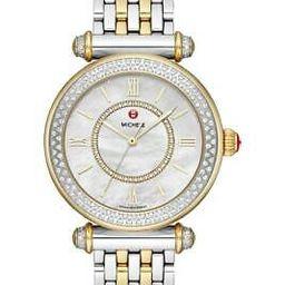 $2695 NWT MICHELE Two Tone Caber Diamond Bracelet Watch, 35mm MWW16E000001   eBay US